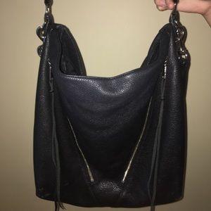 Rebecca Minkoff Black Moto Hobo Bag